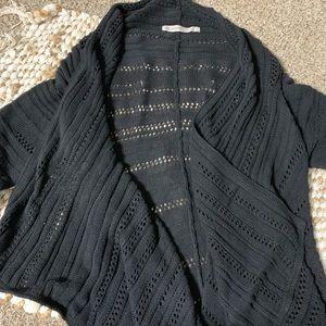 Athleta Wilton black knit cardigan size large